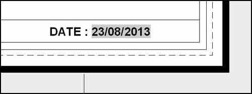 La date sera actualisée à chaque ouverture du fichier.