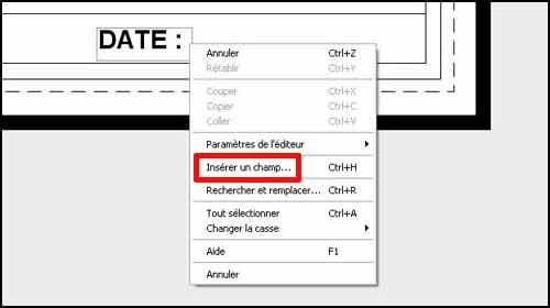 Effectuez un clic droit à l'intérieur du texte pour accéder au menu contextuel.